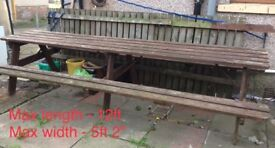 12ft picnic table