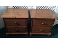 Pair of pine bedside tables FREE LOCAL DELIVERY