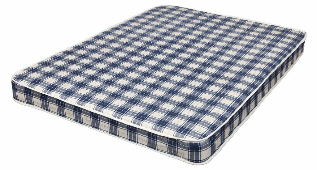 Brand New Comfy Double Mattress in Blue Padded spring free delivery