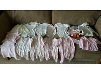 22 baby girls clothes 3-6 months