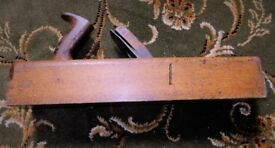 Vintage carpenter`s wooden `box` smoothing plane
