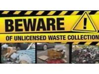 rubbish and waste removal fully licensed,house clearance, garden clearance
