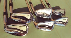 Mizuno MP 54 golf clubs with KBS medium shafts in very good condition P Wedge to 5 Iron