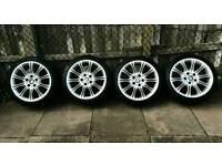 Bmw 3 series 1 alloys mv2 18 wheels and tyres traffic vivaro Vauxhall