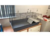 Indoor rabbit / guinea pig cage with accessories