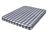 Brand New Comfy Double 4f6 Quilted Comfy Blue Mattress FREE delivery Factory Sealed