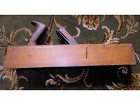 Vintage carpenter`s wooden `box` plane
