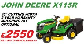 NEW John Deere X115R Ride On Lawnmower