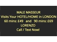 ▲Full Body MASSAGE by▲MALE MASSEUR to Your ▲HOTEL / HOME in LONDON (Outcall Only) - GAY FRIENDLY