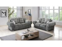 EXPRESS DELIVERY! BRAND NEW VERONA CHESTERFIELD ARMS CORNER SOFA OR 3+2 SET ON SPECIAL OFFER