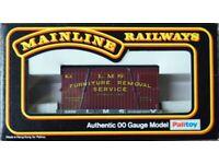 Mainline Railways 37433 1 Plank Wagon 219215 L.M.S. + Furniture Container L.M.S.