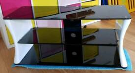 Black and White Tempered Glass TV Unit £50