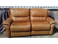 Leather sofa two seater BEAUTIFUL condition I CAN DELIVER FREE LOCALLY