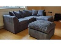 BRAND NEW JUMBO CORD CORNER SOFAS AVAILABLE IN ALL COLOURS