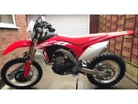 HONDA CRF 450 RX MINT CONDITION BEEN ROAD 2 TIMES 7000 ONO