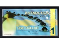2011 ** ANTARCTICA $1 ONE DOLLAR POLYMER BANKNOTE ( PNGN12729) - PENGUINS * MINT UNCIRCULATED