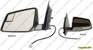 Door Mirror Power Driver Side Heated With Signal Manual Folding Chevrolet Traverse 2009-2013