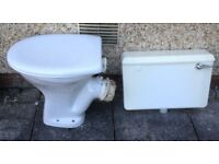 FREE. White toilet in good condition. Includes tank, seat, new valve.