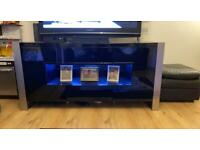 Night gloss sideboard unit with lighting