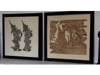 Thai wood block prints