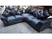 LUX FABRIC 3 + 2 SEATER SOFA SUITE ALSO AVAILABLE IN CORNER SETTEE