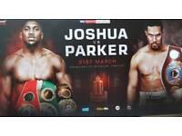 2 x Tickets Anthony Joshua vs Joseph Parker