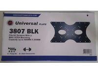2x Universal Tv Plates- Black