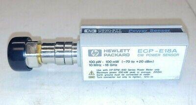 Hp Ecp-e18a Cw Power Sensor 100 Pw - 100mw -70 To 20dbm 10mhz - 18ghz