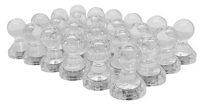 48 Translucent Large Clear Magnetic Push Pins - High Grade Neodymium Magnets