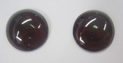 Natural Garnet Deep Red Round Cabochon High Quality Gemstones 14mm USA Seller