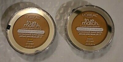 2 X LOREAL #W4 NATURAL BEIGE, TRUE MATCH COMPACT MAKEUP, SUPER BLENDABLE. Sealed