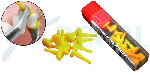 Crown Remover Rubber Pads 10/Pk. Replacement Pad (10 Silicone Yellow Tips)
