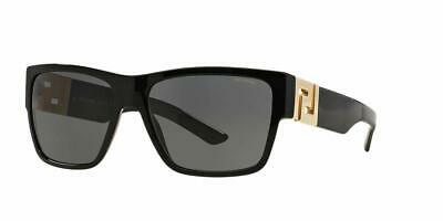 Versace Men's VE4296 Sunglasses Black/ Polar Grey 59 Millimeters