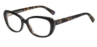 NEW ORIGINAL CHRISTIAN DIOR CD3248 SN2 Black Havana Eyeglasses 52mm 15 140 ITALY