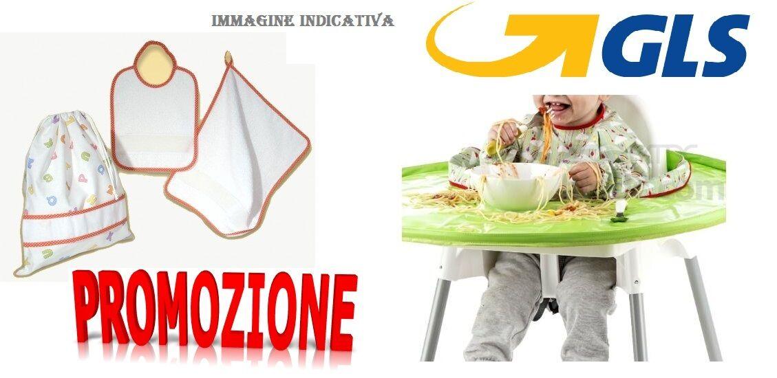 SET ASILO 3 PEZZI bavetta bavaglio  + asciugamano+sacchetto super offerta