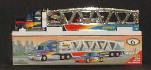 Vintage Sunoco Car Carrier 1999 Sixth Collector's Edition w/Bonus Race Car NIB
