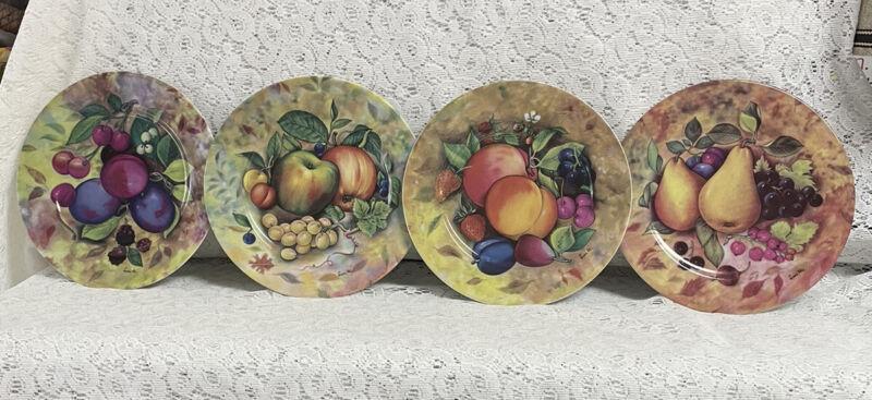 """VINTAGE LIMOGES FRUIT PLATES-Godinger 1855 APROX 7.5"""""""