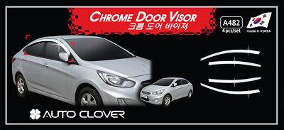 Autoclover Chrome weather shields 4p for 07/2011 - 2018 Hyundai Accent 4dr Sedan