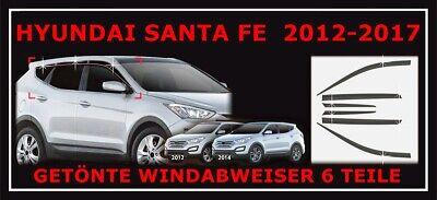hinten rechts /& links Windabweiser für Hyundai Santa Fe 3 III DM 2012-18 vorne