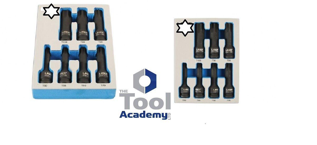 TOOL ACADEMY IMPACT QUALITY Torx SOCKET Bit Set 1//2 T55 T60 T70 T80 T90 T100
