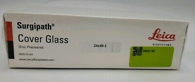 Surgipath Cover Glass Box 24x40-1 10oz Precleaned 3800140 Leica Biosystems