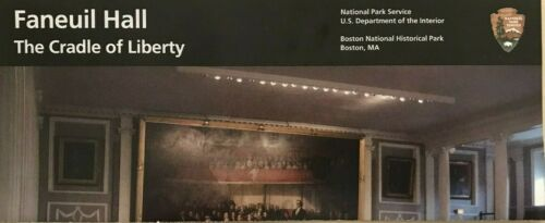 New FANEUIL HALL  Cradle of Liberty - MA  NATIONAL PARK SERVICE UNIGRID BROCHURE