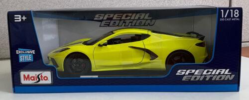 Maisto Special Edition 2020 Chevrolet Corvette C8 Stingray 1:18 Diecast YELLOW