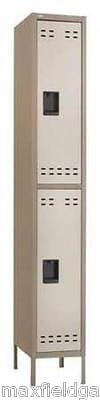 New Safco Double-tier Two-tone 1 Column Locker Wlegs 12x18x78 Steel Wwarr
