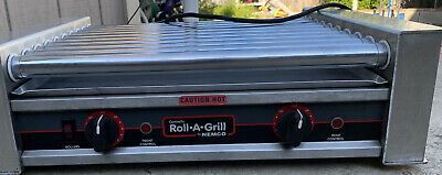 Nemco Nsf Hot Dog Roller Grill Model No. 8027 Large Capacity 27 Giant Hot Dogs