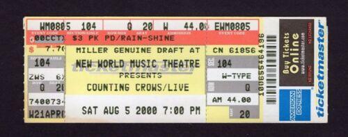 Original 2000 Counting Crows unused full concert ticket Tinley Park IL Mr. Jones