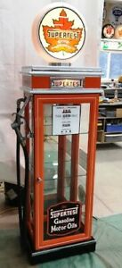 KUSTOM SUPERTEST GAS PUMP DISPLAY CABINET, VINTAGE PETRO