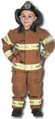 Kids Fire Fighter Costume with Helmet - Tan](Tan Firefighter Costume)