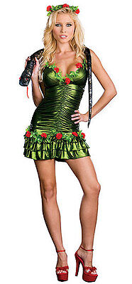 Dreamgirl 6409 Garden of Eve 3 pc Women Cosplay Halloween Costume L or XL NEW