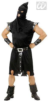 Adult Mens Medieval Tudor Executioner Black Halloween Costume Outfit L Xl